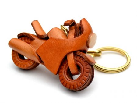 RACING BIKE LEATHER KEYCHAIN VANCA