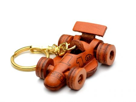 FORMULA-1 RACING CAR LEATHER KEYCHAIN vanca