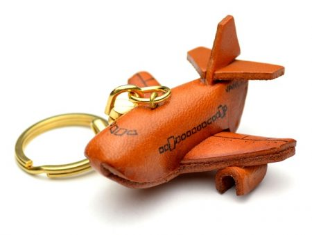 AIRPLANE LEATHER KEYCHAIN VANCA