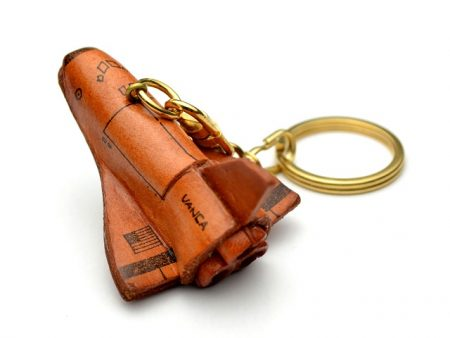 SPACE SHUTTLE LEATHER KEYCHAIN VANCA