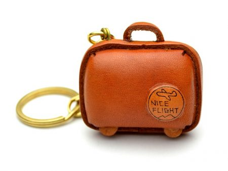 SUITCASE LEATHER KEYCHAIN VANCA