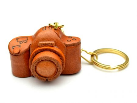 CAMERA LEATHER KEYCHAIN VANCA