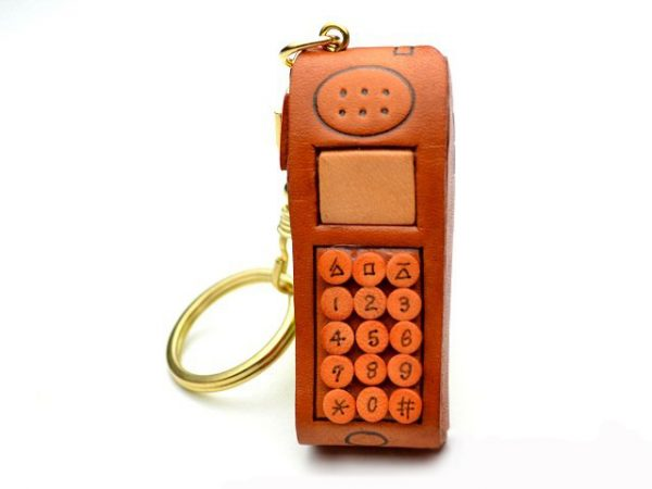 CELLULAR(MOBILE) PHONE LEATHER KEYCHAIN VANCA