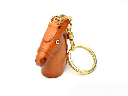 HORSE-HEAD LEATHER KEYCHAIN VANCA