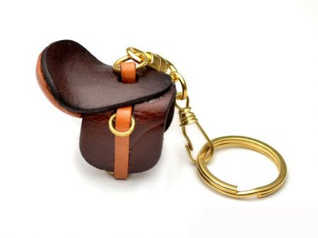 SADDLE LEATHER KEYCHAIN VANCA