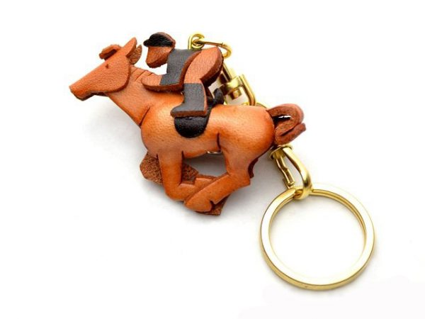 HORSE RIDER LEATHER KEYCHAIN VANCA