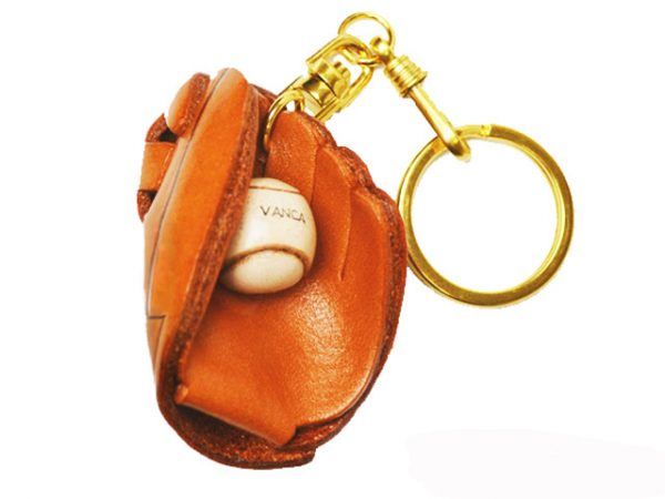 BASEBALL GLOVE LEATHER KEYCHAIN VANCA