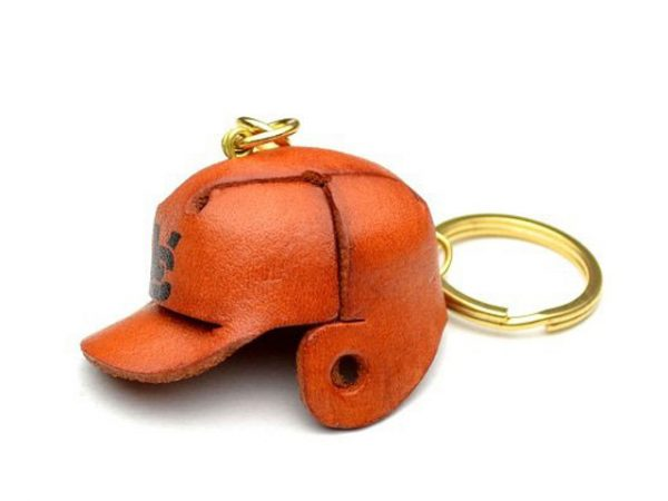 BASEBALL HELMET LEATHER KEYCHAIN VANCA