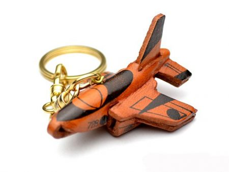BLUE IMPULSE LEATHER KEYCHAIN VANCA