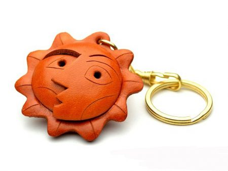 AN ARTISTIC FACE LEATHER KEYCHAIN VANCA