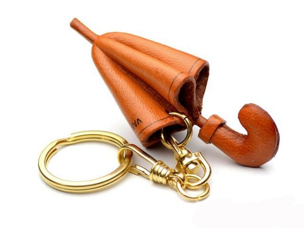 UMBRELLA LEATHER KEYCHAIN VANCA