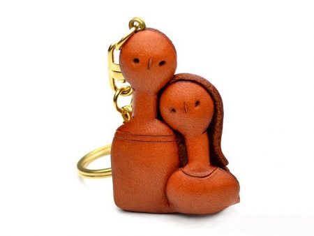 A COUPLE LEATHER KEYCHAIN VANCA