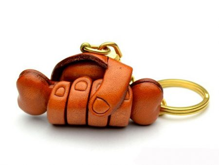 A BONE IN HAND LEATHER KEYCHAIN VANCA