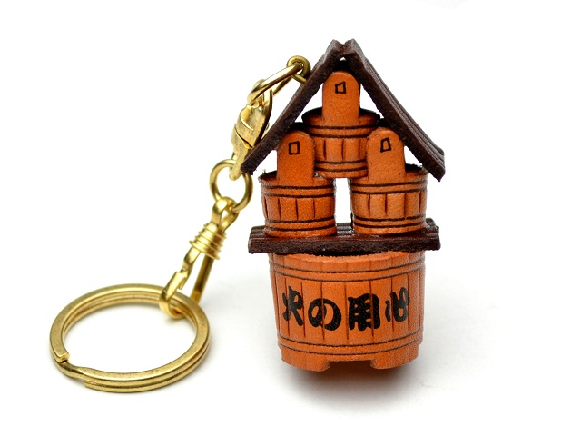 JAPANESE BUCKETS LEATHER KEYCHAIN VANCA