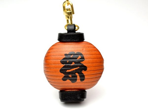 JAPANESE LANTERN LEATHER KEYCHAIN VANCA