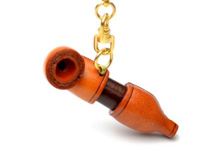 ORIENTAL PIPE LEATHER KEYCHAIN VANCA