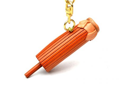 JAPANESE OLD FASHIONED UMBRELLA LEATHER KEYCHAIN VANCA