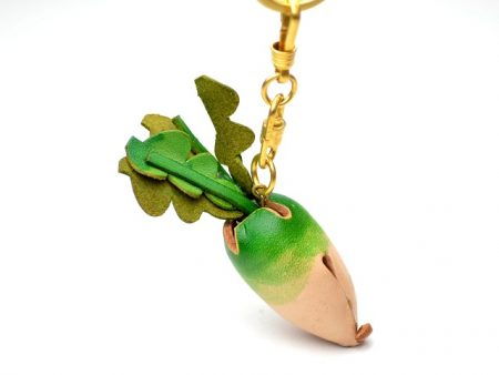 DAIKON RADISH LEATHER KEYCHAIN VANCA