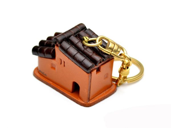 SPANISH HOUSE LEATHER KEYCHAIN VANCA