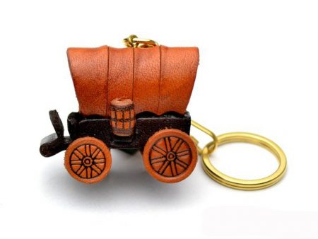 COVERED WAGON LEATHER KEYCHAIN VANCA