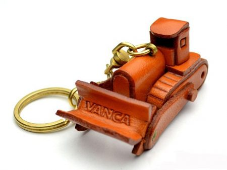 Bulldozer Leather Keychain VANCA
