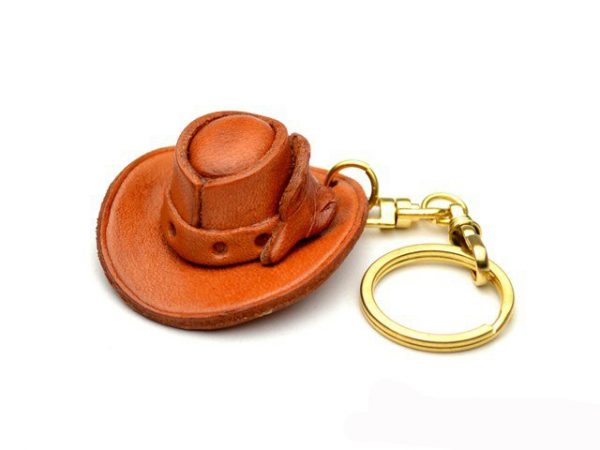 COWBOY HAT LEATHER KEYCHAIN VANCA