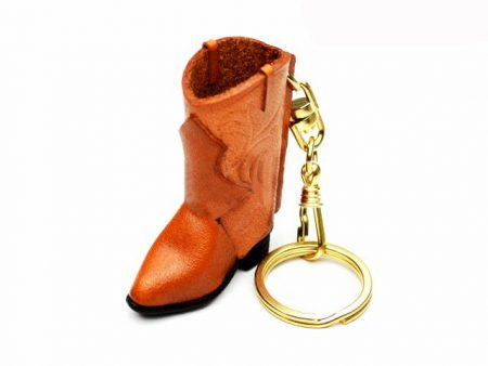 WESTERN BOOT LEATHER KEYCHAIN VANCA