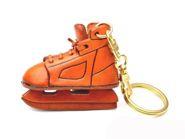 ICE SKATE SHOE LEATHER KEYCHAIN VANCA