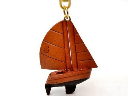 Sailboat Leather Keychain VANCA