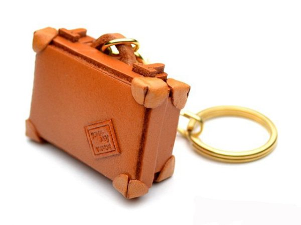 TRUNK LEATHER KEYCHAIN VANCA VANCA