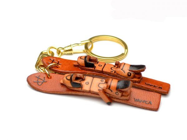 SKIS LEATHER KEYCHAIN VANCA