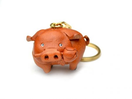 PIG JAPANESE LEATHER KEYCHAINS VANCA