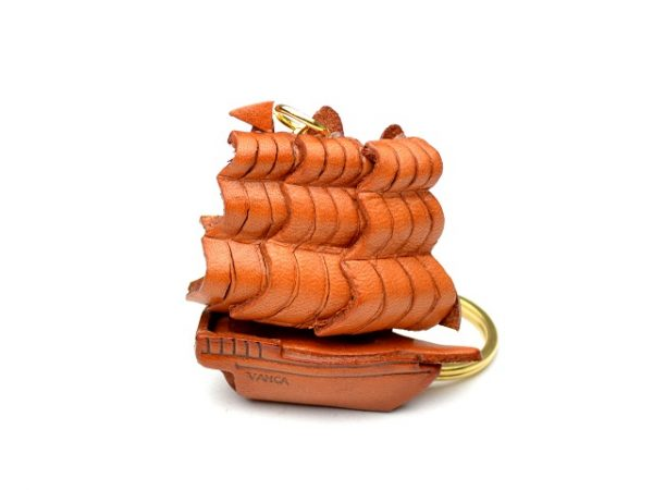 HISTORICAL SAILING BOAT LEATHER KEYCHAIN VANCA