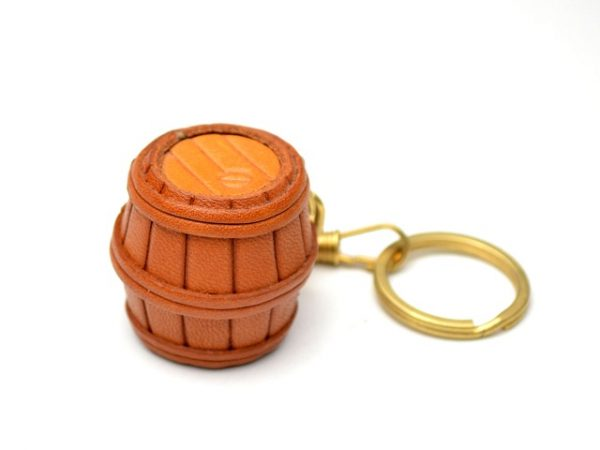 BARREL LEATHER KEYCHAIN VANCA