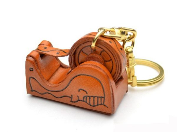 TAPE DISPENSER LEATHER KEYCHAIN VANCA