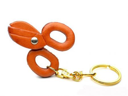 SCISSORS LEATHER KEYCHAIN VANCA