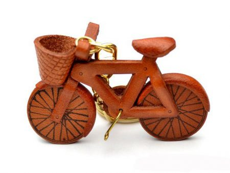 Bicycle Leather Keychain VANCA
