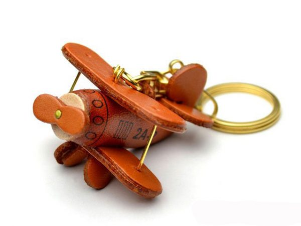 Propeller Airliner Leather Keychain VANCA