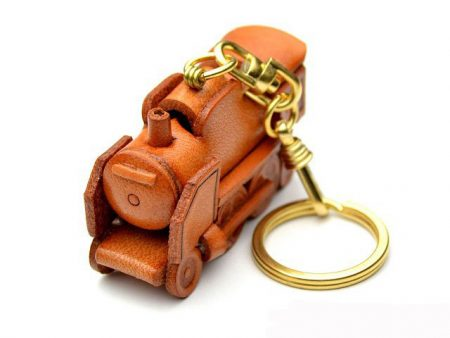 STEAM LOCOMOTIVE JAPANESE LEATHER KEYCHAIN VANCA