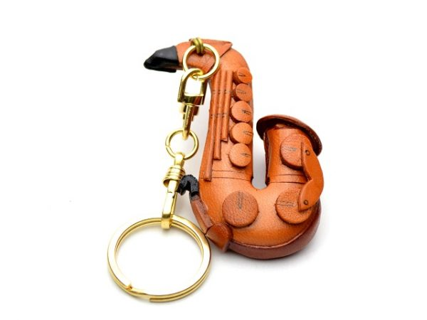 SAXOPHONE LEATHER KEYCHAIN VANCA
