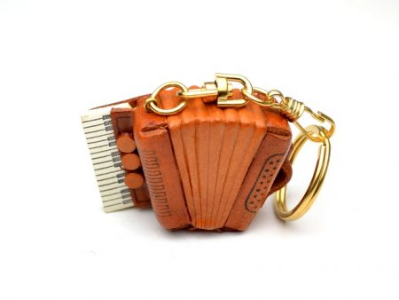 ACCORDION LEATHER KEYCHAIN VANCA