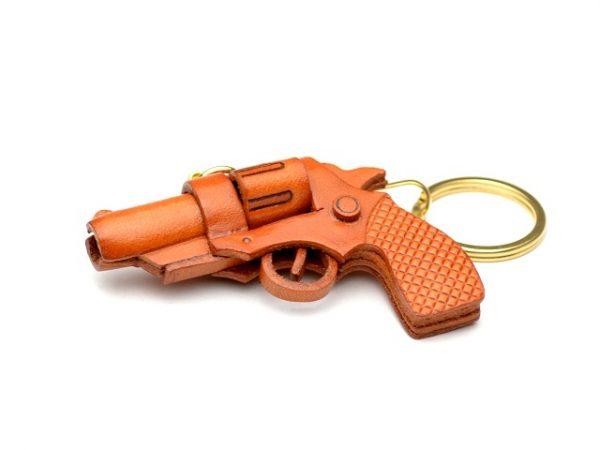 GUN (PISTOL) LEATHER KEYCHAIN VANCA