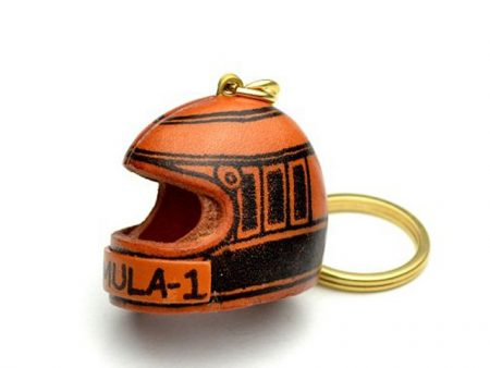 RACING HELMET LEATHER KEYCHAIN VANCA
