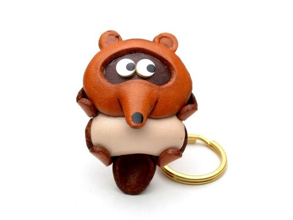 RACCOON DOG JAPANESE LEATHER KEYCHAINS VANCA