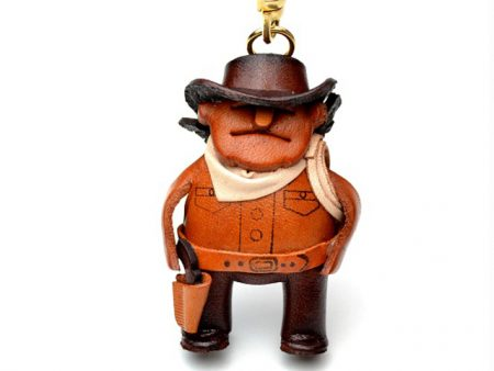 COWBOY LEATHER KEYCHAIN VANCA