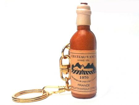 WINE BOTTLE LEATHER KEYCHAIN VANCA
