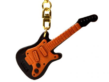 ELECTRIC GUITAR LEATHER KEYCHAIN VANCA