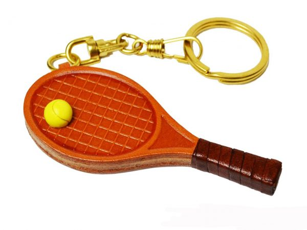 TENNIS RACKET LEATHER KEYCHAIN VANCA