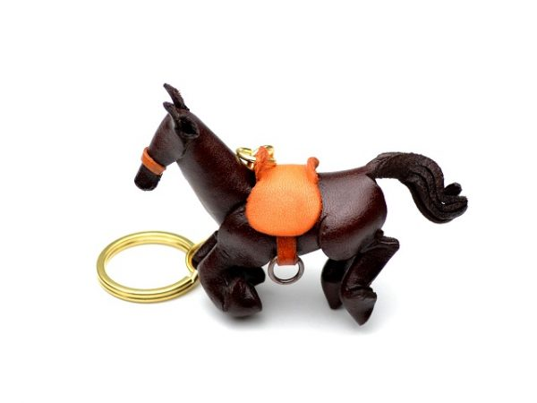 GALLOPING HORSE LEATHER KEYCHAIN VANCA
