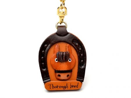 HORSE SHOE LEATHER KEYCHAIN VANCA